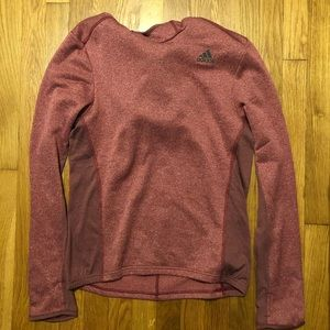 Adidas red Hoodie Men's Small